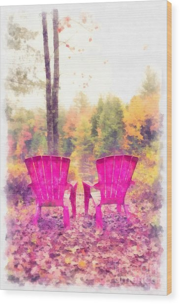 Fall On Anderson Pond Eastman Grantham New Hampshire Wood Print