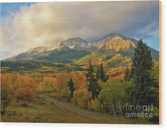Fall On Mt Sopris  Wood Print