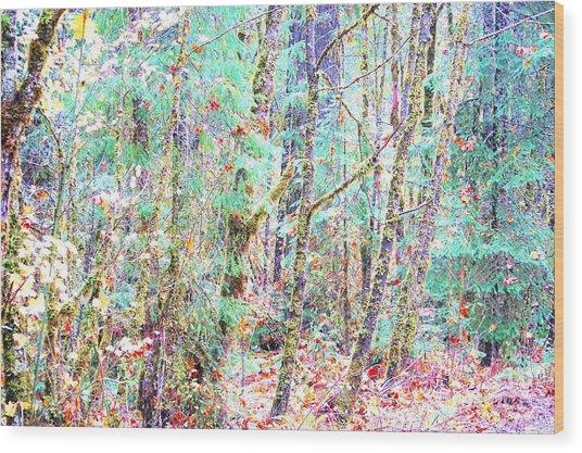 Fall Oregon Forest Wood Print