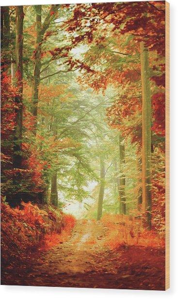 Fall Painting Wood Print