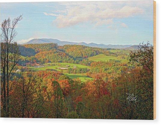 Fall Porch View Wood Print