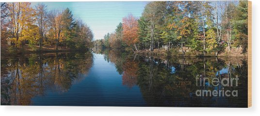Fall Reflections Wood Print by David Bishop