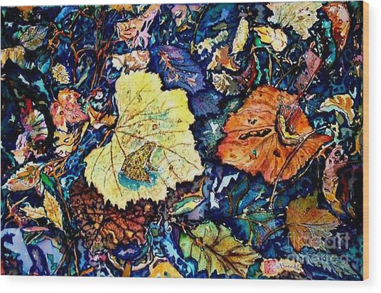 Fall Review Wood Print by Norma Boeckler