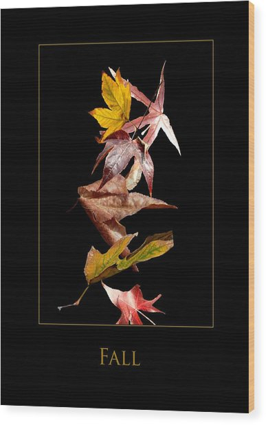 Fall Wood Print by Richard Gordon