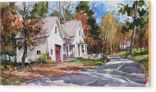Fall Splendor Wood Print by Tony Van Hasselt