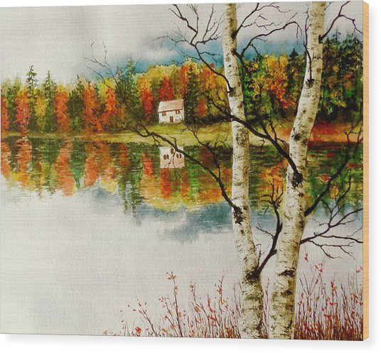 Fall Splendour Wood Print
