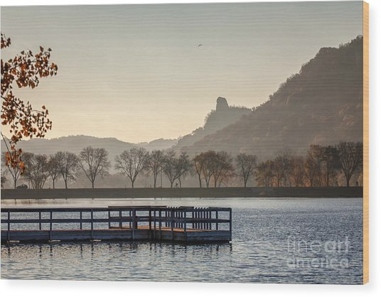 Wood Print featuring the photograph Fall Sugarloaf With Huff And Pier by Kari Yearous