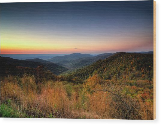 Wood Print featuring the photograph Fall Sunrise by Ryan Wyckoff