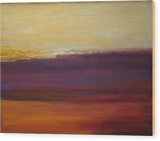 Fall Sunset Wood Print by Ora Birenbaum