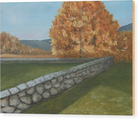 Fall Wall Wood Print