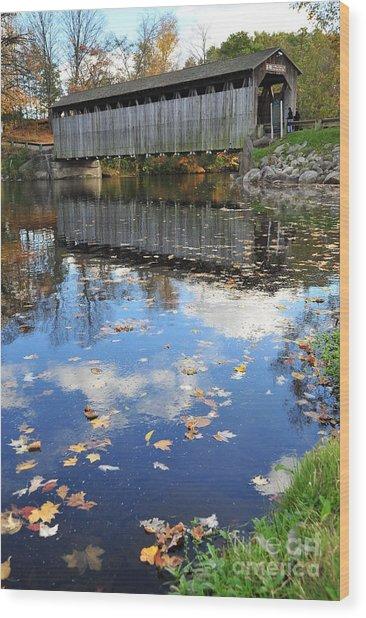 Fallasburg Covered Bridge 16 Wood Print