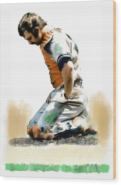 Fallen Captain Thurman Munson Wood Print