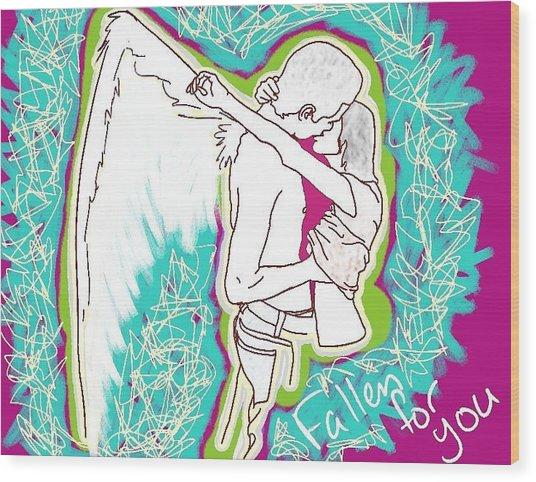 Fallen For You Wood Print by M Blaze Wolenski