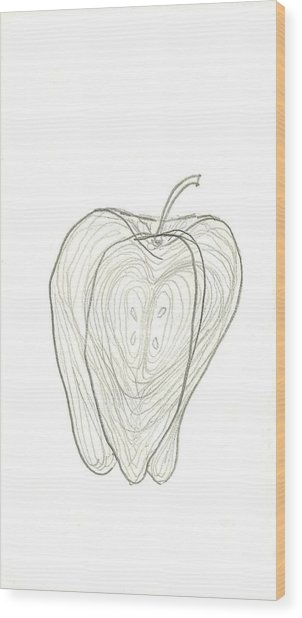 Fallen Fruits Wood Print by Theresa Rawlings