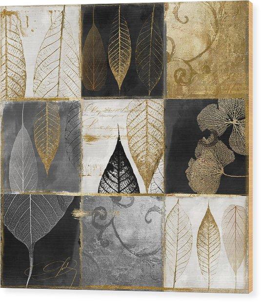 Fallen Gold Autumn Leaves Wood Print