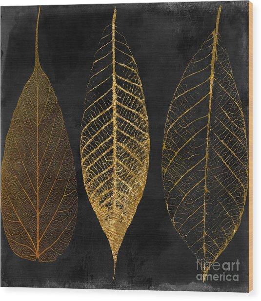 Fallen Gold II Autumn Leaves Wood Print