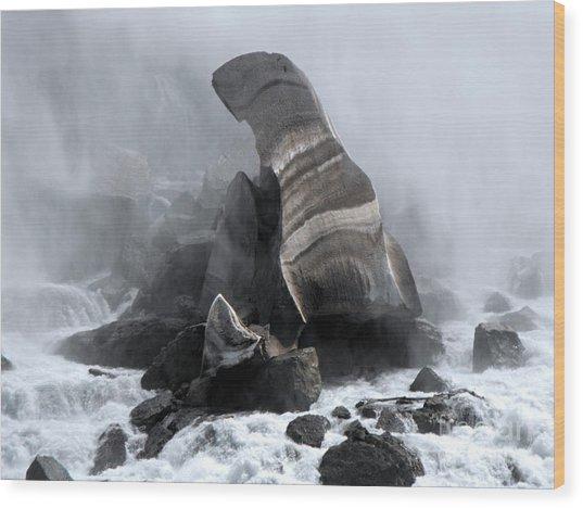 Fallen Ice Wood Print