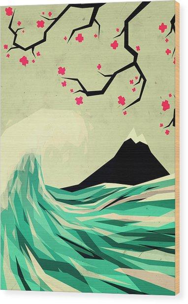 Falling In Love Wood Print