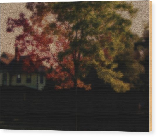 Falling Into Fall From The Past Wood Print by Martin Morehead