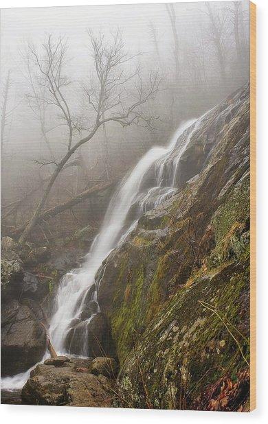 Falling Mist Wood Print