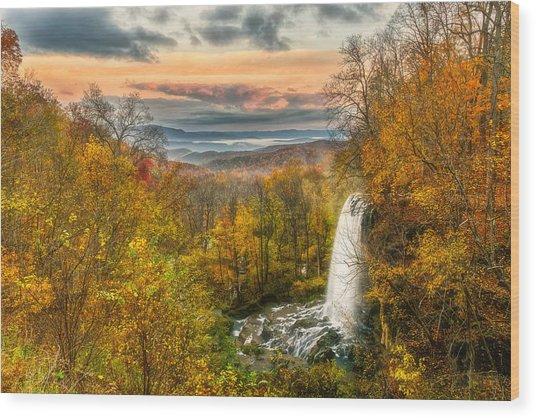 Falling Spring Falls Wood Print