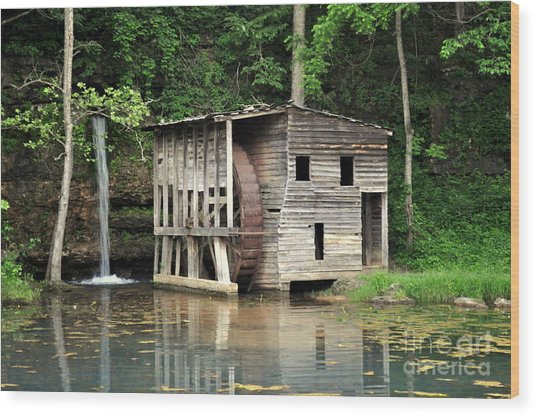 Falling Spring Mill 3 Wood Print