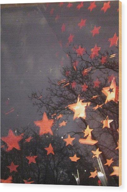 Falling Stars And I Wish.... Wood Print