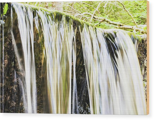 Falling Water Mirror Wood Print