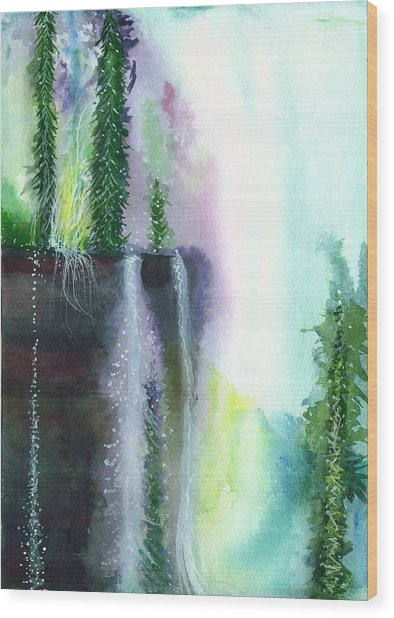 Falling Waters 1 Wood Print