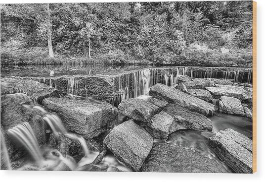Falling Waters On Deep Creek Wood Print by JC Findley