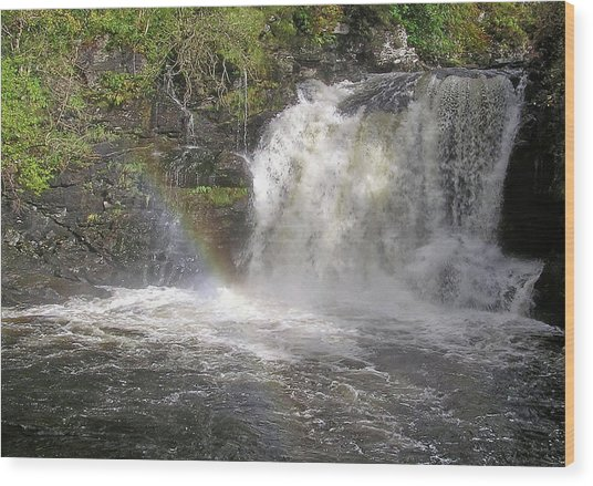 Falloch Rainbow Wood Print