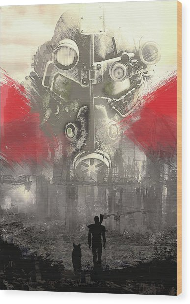 Fallout 4  Wood Print
