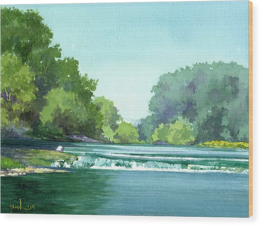 Falls At Estabrook Park Wood Print