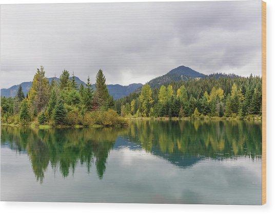 Falls Colors In Gold Creek Pond Wood Print