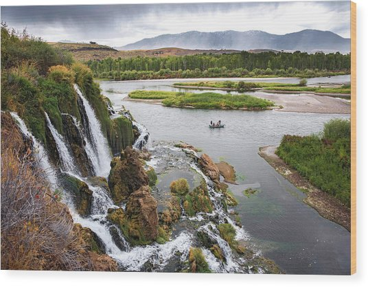 Falls Creak Falls And Snake River Wood Print