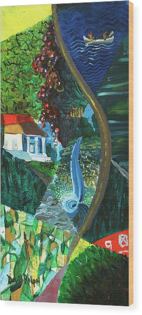 Falls, Fingers And Gorges Wood Print