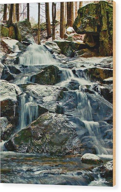 Falls Of Fogg Brook Wood Print