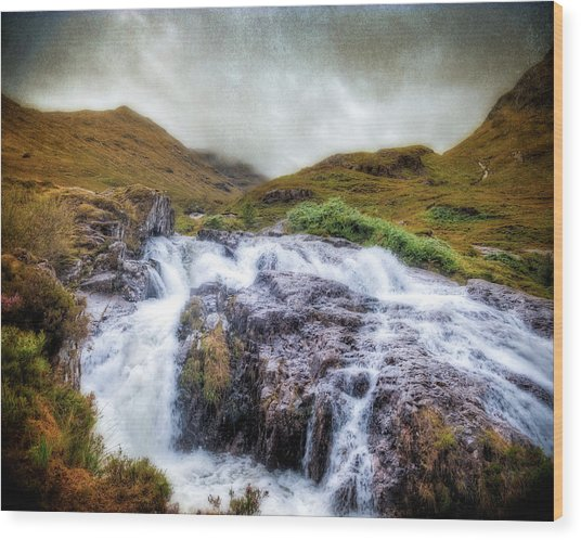 Falls Of Glencoe Wood Print