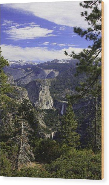 falls of Yosemite Wood Print by Jim Riel