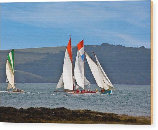 Falmouth Reggatta  Wood Print