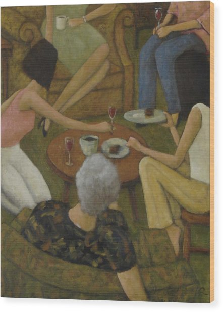 Family Gathering Wood Print