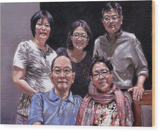 Family Portrait Wood Print