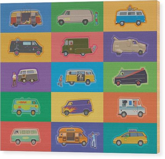 Famous Vans Wood Print