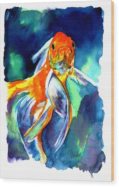 Fancy Goldfish Wood Print