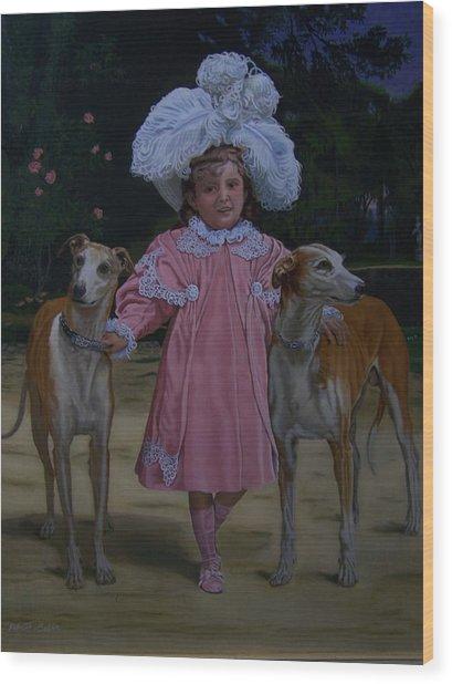 Fancy Grayhounds  Wood Print by Robert E Gebler