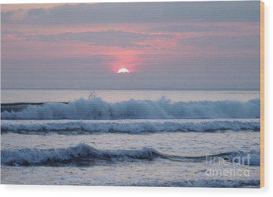 Fanore Sunset 1 Wood Print