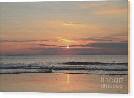 Fanore Sunset 3 Wood Print