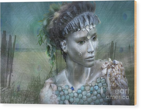 Mermaiden Fantasea Wood Print