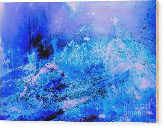 Fantasy Blue Artwork Wood Print