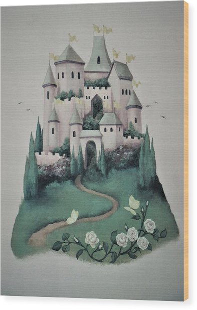 Fantasy Castle Wood Print